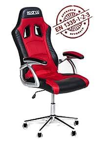 Poltrona ufficio racing sparco trophy ergonomica rossa e for Poltrona ufficio sparco