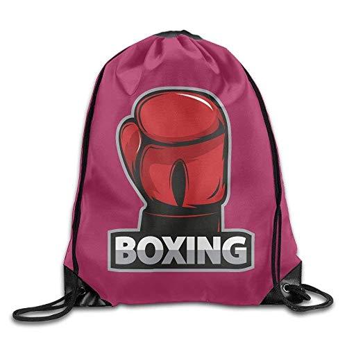 gs Gym Bag Travel Backpack, Boxing Red White Black, Gym Equipment Backpacks for Boys Girls ()