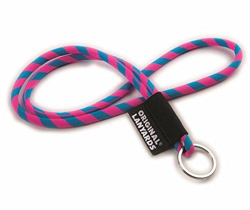 Original Lanyards Schlüsselband Schlüsselanhänger Lanyard in 10 Farben erhältlich - (Made In Portugal) Pink/Blau