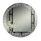 LED Beleuchteter Badezimmer-Spiegel-Runder Explosionssicherer Wandspiegel Mit Leichter BerüHrungssteuerung Demister-Auflage