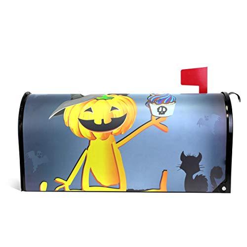 Alaza(mailbox cover) WOOR Happy Halloween Kürbishut mit Kuchen, magnetischer Briefkasten-Abdeckung, Standardgröße, 45,7 x 52,1 cm 25.5x20.8 inch Oversized Multi
