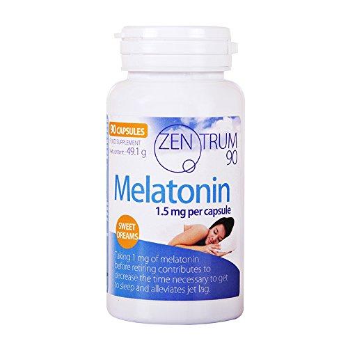Melatonina con melisa, tila, valeriana, pasiflora y amapola californiana – Suplemento alimenticio con extracto de plantas que ayudan a descansar – 90 cápsulas