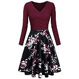 Yesmile Vintage Kleid Frauen Vintage Rockabilly Faltenrock Elegante Petticoat Retro Kleider
