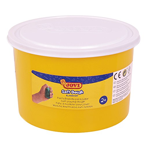 Jovi - Soft Dough Blandiver, Bote de 460 g, Color Blanco (46001)