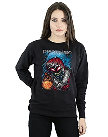 Disturbed Damen Stole Christmas Sweatshirt Medium Schwarz