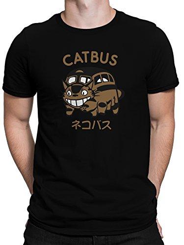 vanVerden Herren Fun T-Shirt Mein Nachbar Catbus Fan Plus Geschenkkarte, Größe:5XL, Farbe:Schwarz