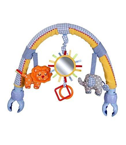 Singring Baby-Spielmobile, für Kinderwagen/Kinderbett, gebogen, Plüsch, Sonne, mit Rassel (Kinderwagen Arch)