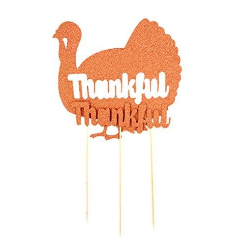 BESTOYARD 1 Set Türkei Kuchen Topper Thanksgiving Day Glitter Cupcake Topper Picks Dekorationen für Thanksgiving Day Hochzeit Geburtstag Party Zeremonie Zubehör