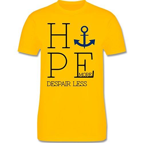 Statement Shirts - Hope more despair less - Herren Premium T-Shirt Gelb