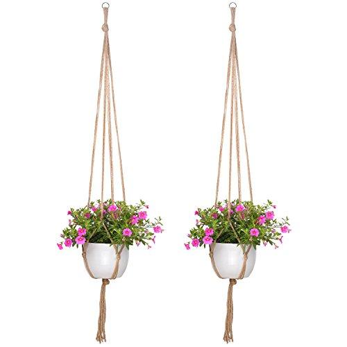 Pflanzenhänger Indoor Outdoor Blumentopf Pflanzen Halter 48 Zoll, Groß, 4 Beine, 2 Stück - Bild 7