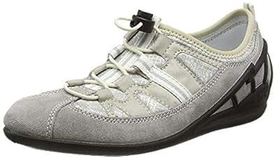 Rieker L0561 Women Low-Top, Sneakers Basses Femme - Gris - Grau (vapor/grey/beige/41), 36 EU