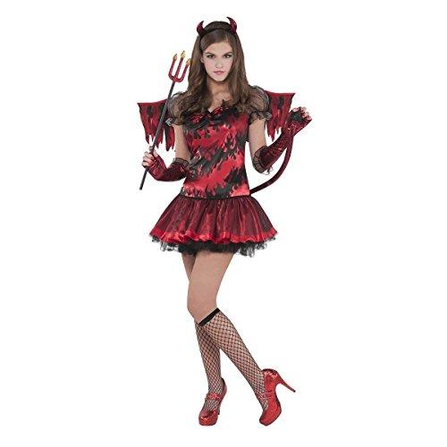 Teufelin Kostüm Gr. 146 Teufel Kostüm Kinder Halloween Mädchen Karneval