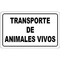 WOLFPACK 15051295 - Cartel Transporte Animales Vivos 30x21 cm