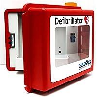 MedX5 Defibrillator Wandkasten für alle AED Herstellermarken, mit akustischen und optischen Alarmen, mit Heizung, beheizt für Aussenbereiche, Made in Germany! 5 Jahre Garantie …