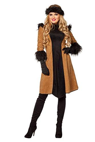 Karneval-Klamotten Dschingis Khan Kostüm Russin Damen Russian Russin Kostüm Mongolien Karneval Damen-Kostüm Größe 42