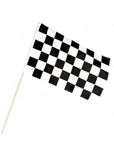 Generique - Renn-Flagge schwarz-weiß karriert 30 x 45cm