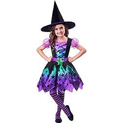 Disfraz de bruja encantadora para niña.