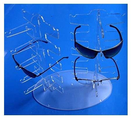 Acryl BRILLENSTÄNDER für 10 BRILLEN. Die RICHTUNG selbst bestimmen ! Brillenpräsenter Brillenablage Brillenaufsteller Verkaufsständer Brillenaufbewahrung Brillenregal für 10x Brillengestell / Brillenfassung . Brillendisplay Brillenhalter Sonnenbrille