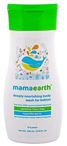 Mamaearth Deeply nourishing wash for babies (200 ml, 0-5 Yrs)
