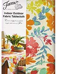 Fiesta Garden Floral Regenschirm Tischdecke Reißverschluss Outdoor-Stoff 60 x 84 Rectangle Umbrella Tan, Green, Blue, Red, Orange, Pink (84 60 Tischdecke Stoff X)