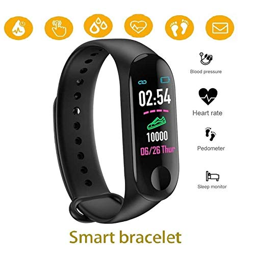 Dichkau Fitness Watch Band with GPS Step Counter Heart Rate Monitor Smart Watch Fitness Tracker Strap Band Watch Waterproof Compatible with All Smartphones