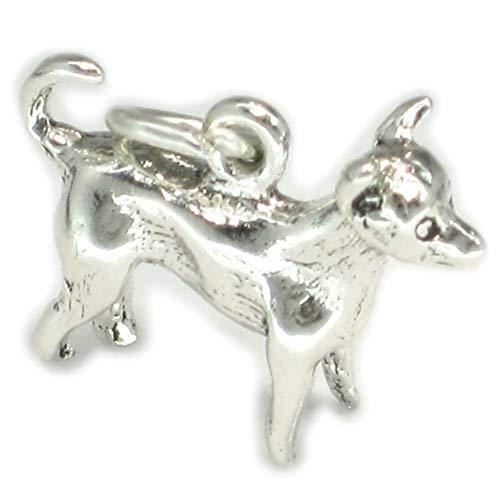 Chihuahua Sterlingsilber Hund .925 x 1 Chihuahuas Chiwawa Hunde Anhänger sslp2092 -