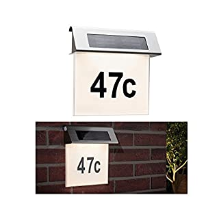 Paulmann Special solar house number light IP44 LED 1x0.2W Stain/Wh stainless steel/Acr