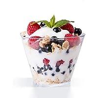 MVPower Lot de 50 Coupe à Dessert, Bols à Dessert en Plastique 150ml, Réutilisables, Transparents, pour Buffets…