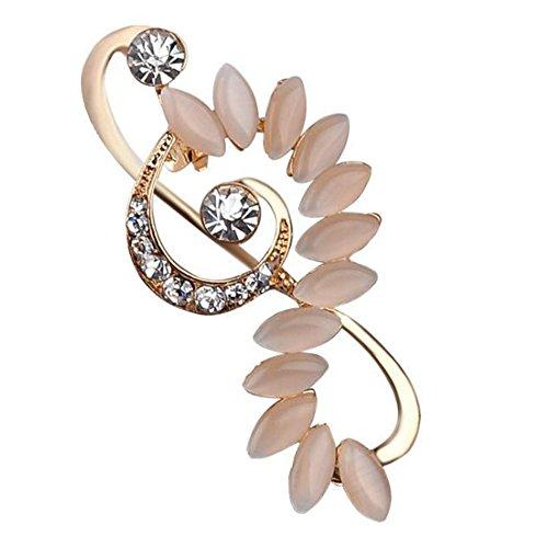 ik Hinweis Design Brosche Künstliche Strass Brosche Pins Für Hochzeit, Party (Golden und Silber) (Musik Hinweis: Pin)