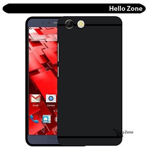 Hello Zone Exclusive Matte Finish Soft Back Case Cover For Panasonic P55 nova - Black