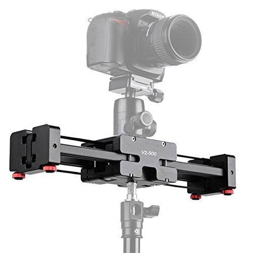 """CameraPlus® CP-V2-500 Kompakte Größe Pro Kamera-Schienen-Transportwagen-Schweber-Schiene schießen Video Stabilizer mit 1/4 """"und 3/8"""" Gewindeschraube für professionelle Videokameras, Spiegelreflexkameras, DSLR und DVs, Unterstützung von bis zu 8 kg."""
