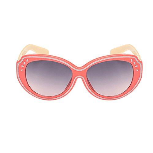 Haodasi Garçons et filles de lunettes de soleil de mode UV400 Light red/beige