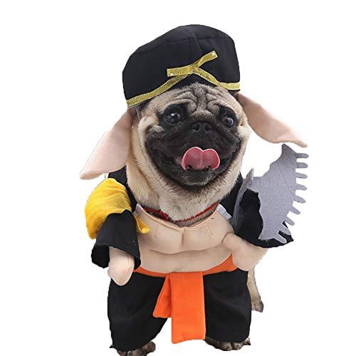 Halloween Mops Kostüm - JING Lustiger Hundekostüm, Haustierkleidung Hundekleidung Welpe Kleiner Mittlerer Hund Chihuahua Teddy Mops Weihnachtsfeier Halloween-kostüm (s-XL)