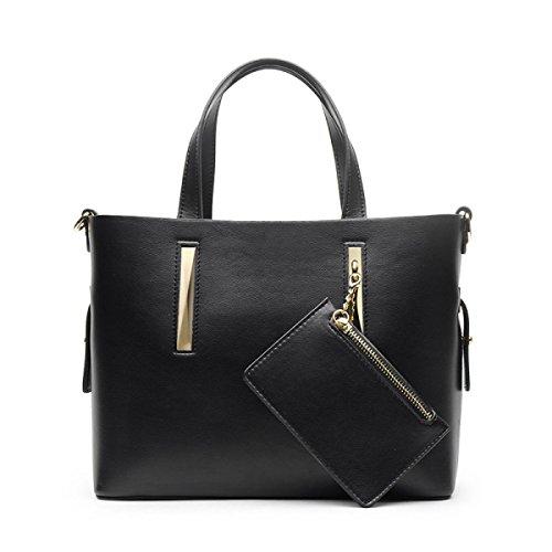 Handtaschen Damen Collins Mode Große Kapazität Tragbare Schultertasche Schultertasche Black