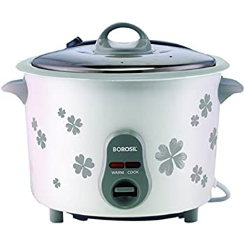 Borosil Pronto BRC18MPC21 1.8-Liters Electric Rice Cooker (White)