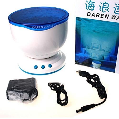tor projektor lampe,Monochrome Wave Daren Ocean Wave Projektionsleuchte Runder Ocean Star Projektor Ocean Wave, C ()