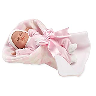Arias 60134 Beautiful Crying Baby Doll on A Soft Blanket