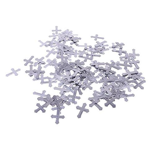 Gazechimp Confettis de Table Forme Croix Plastique Fourniture Déco Fête