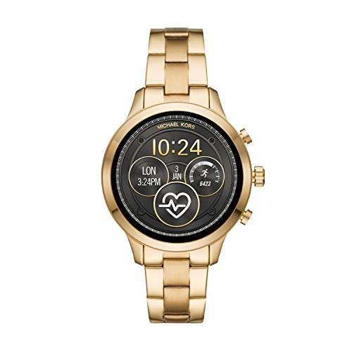Michael Kors Damen Digital Smart Watch Armbanduhr mit Edelstahl Armband MKT5045