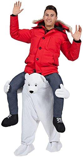 Carry Me Polar Bear - Adult Costume Adult - One (Adult Polar Bear Kostüm)