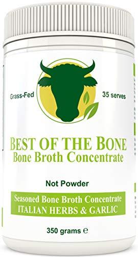 Brodo concentrato di ossa bovine di qualità con sapore alle erbe italiane - fatto da bovini 100% australiani, allevati al pascolo ed alimentati con erba - Pelle e unghie più sane, bone broth