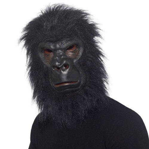 (Star55 Gorilla Maske & Haar Full Overhead Fancy Kleid Kostüm Gorilla Ape Maske)