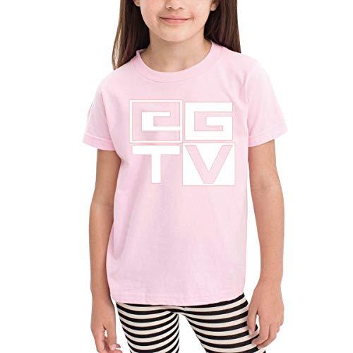 Solid-footed Sleeper Pajamas (Kinder Jungen Mädchen Shirts EthanGamerTV T Shirt Kurzarm T-Shirt Für Kleinkind Jungen Mädchen Baumwolle Sommer Rosa 5/6 T)