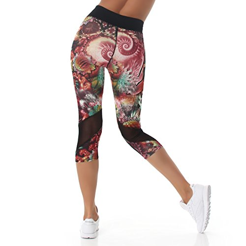 ea8cf58a7dd6 JELA London Damen Leggings im 3 4 Capri Stil, kurze, bunte Sport oder