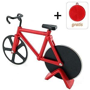 Fahrrad Pizzaschneider, 100% Essen Grade Antihaftbeschichteter Edelstahl...