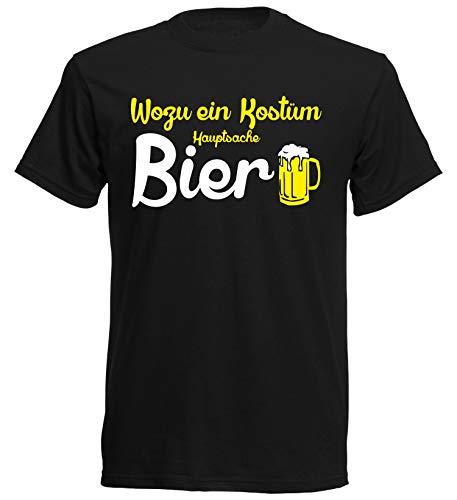 Kostüm Bier Männer - aprom T-Shirt Wozu EIN Kostüm Bier reicht Karneval Fasching Gruppenkostüm JGA (S)