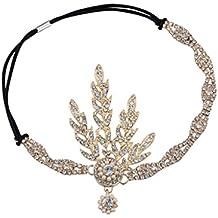 Babeyond® 1920s Stil Blatt-Medaillon Rundes Stirnband mit Perlen Inspiriert von Der Große Gatsby Accessoires für Damen