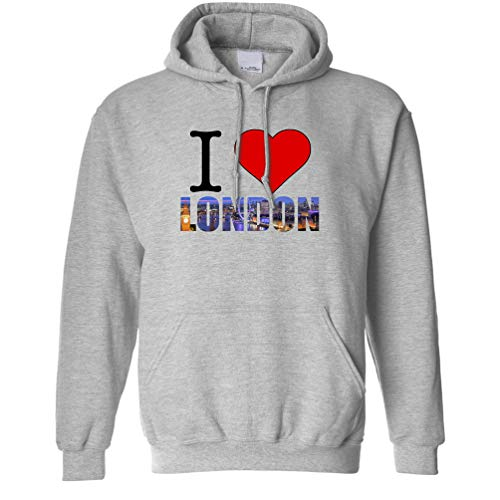 Tourist Unisex Hoodie I Love London England Slogan for sale  Delivered anywhere in UK