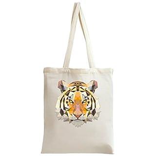 Triangle Tiger Head Tote Bag