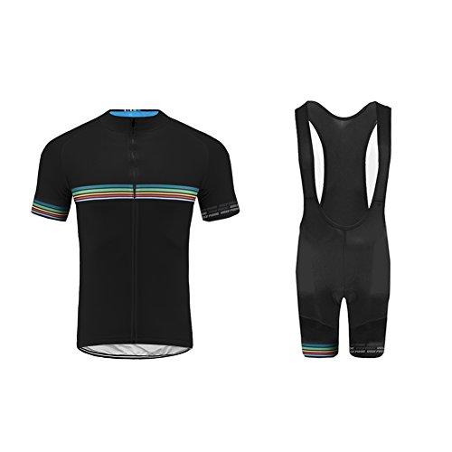 Uglyfrog Completo Ciclismo Abbigliamento Estate Traspirante Set di Abbigliamento Ciclismo Manica Corta Asciugatura rapida Ciclismo Maglia + 3D Pantalone Imbottito Body
